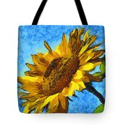 Sunflower Abstract Tote Bag by Unknown