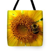 Sunflower And A Bee Tote Bag