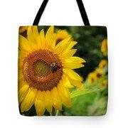 Sunflower And Bee II Tote Bag