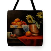 Sunflower And Fruits Tote Bag