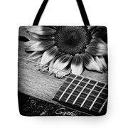Sunflower And Guitar Tote Bag