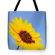 Sunflower And Ladybird Beetle 2am-110488 Tote Bag
