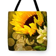 Sunflower And The Lights Tote Bag