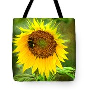 Sunflower And Visitors Tote Bag