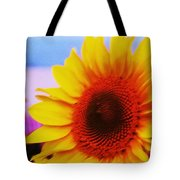 Sunflower At Beach Tote Bag