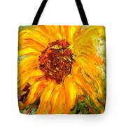 Sunflower Tote Bag by Barbara Pirkle