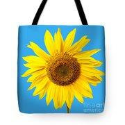 Sunflower Blue Sky Tote Bag