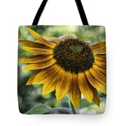 Sunflower Bokeh Tote Bag