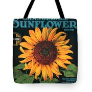 Sunflower Brand Crate Label Tote Bag