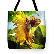 Sunflower Butterfly And Bee Tote Bag