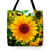 Sunflower Centered Tote Bag
