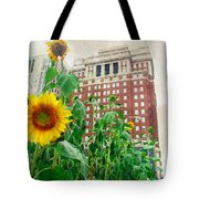 Sunflower City Tote Bag
