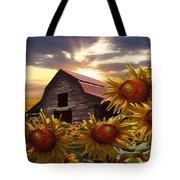 Sunflower Dance Tote Bag by Debra and Dave Vanderlaan