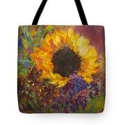 Sunflower Dance Original Painting Impressionist Tote Bag