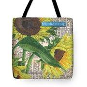 Sunflower Dictionary 1 Tote Bag by Debbie DeWitt