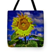 Sunflower Electrified Tote Bag