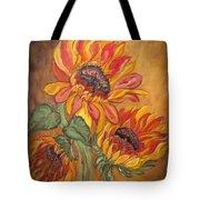 Sunflower Enchantment Tote Bag by Ella Kaye Dickey