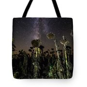 Sunflower Field At Night Tote Bag