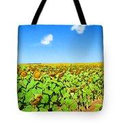 Sunflower Fields Forever Tote Bag
