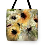 Sunflower Impressions Tote Bag