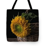 Sunflower In A Basket Tote Bag