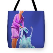 Sunflower In Blue Tote Bag