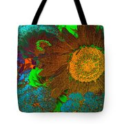 Sunflower In Brown Tote Bag