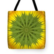 Sunflower Kaleidoscope 3 Tote Bag