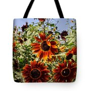 Sunflower Layers Tote Bag