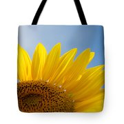 Sunflower Looking Up Tote Bag