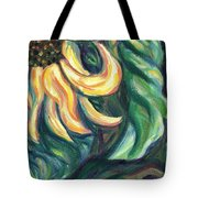 Sunflower One Panel Four Of Four Tote Bag