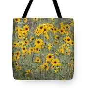 Sunflower Patch On The Hill Tote Bag by Tom Janca
