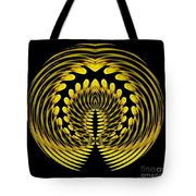 Sunflower Polar Coordinate Effect 1 Tote Bag