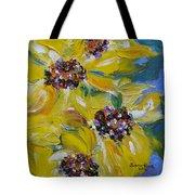 Sunflower Quartet Tote Bag