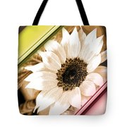 Sunflower Rail Tote Bag