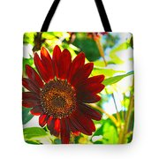Sunflower - Red Blazer - Luther Fine  Art Tote Bag