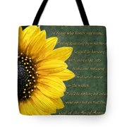 Sunflower Scripture Tote Bag