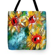 Sunflower Study Painting Tote Bag