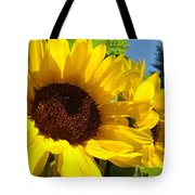 Sunflower Summer Garden Art Prints Tote Bag