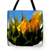 Sunflower Teardrop Tote Bag