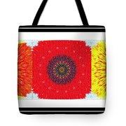 Sunflower Trio - Triptych - Flowers Tote Bag