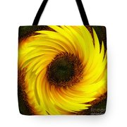 Sunflower Twirl Tote Bag