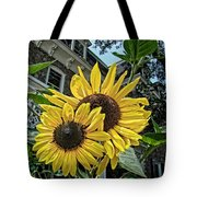 Sunflower Under The Gables Tote Bag