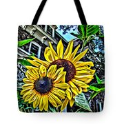 Sunflower Under The Gables Too Tote Bag