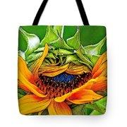 Sunflower Volunteer Half Bloom Tote Bag