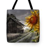 Sunflower Watch Tote Bag by Debra and Dave Vanderlaan