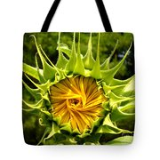 Sunflower Whirl Tote Bag