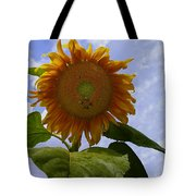 Sunflower With Busy Bees Tote Bag