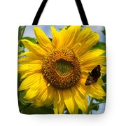 Sunflower With Butterfly Tote Bag