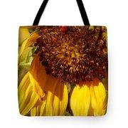 Sunflower With Ladybug Tote Bag